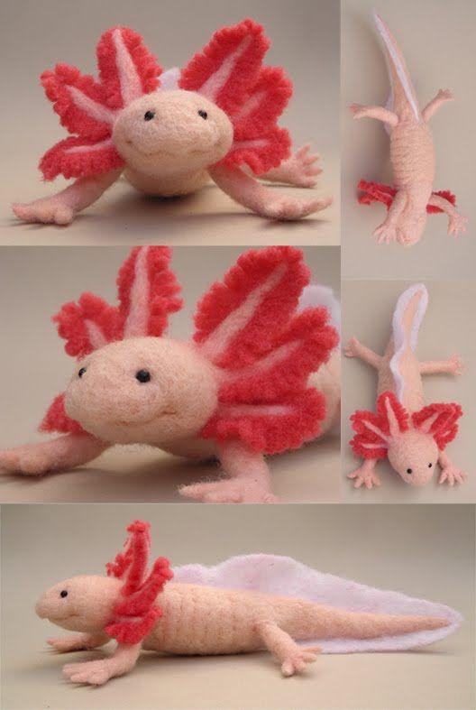 Oh my needle felted axolotl!!