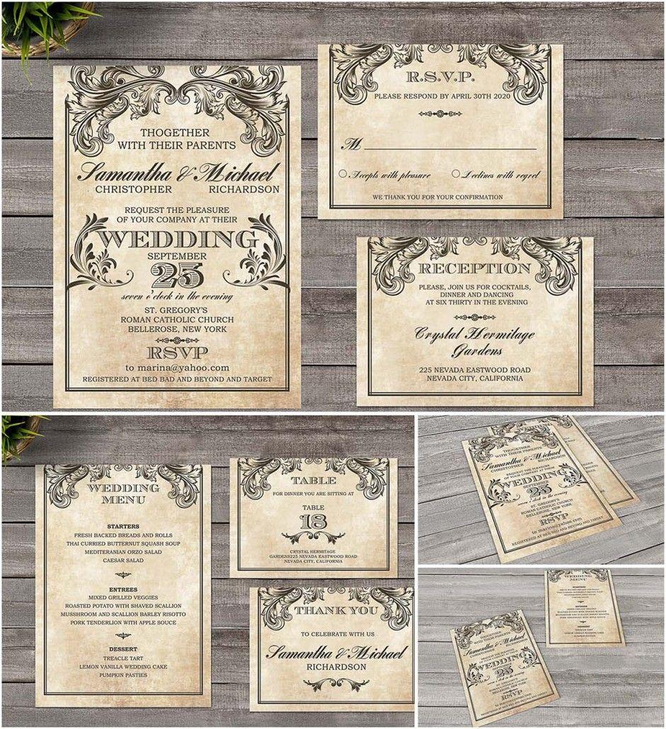 Vintage Wedding Invitation Victorian Style Free Download Antique Wedding Invitations Vintage Wedding Invitations Templates Gothic Wedding Invitations