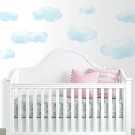 Blue Clouds Wall Decals | Wall decals, Cloud and Room decor