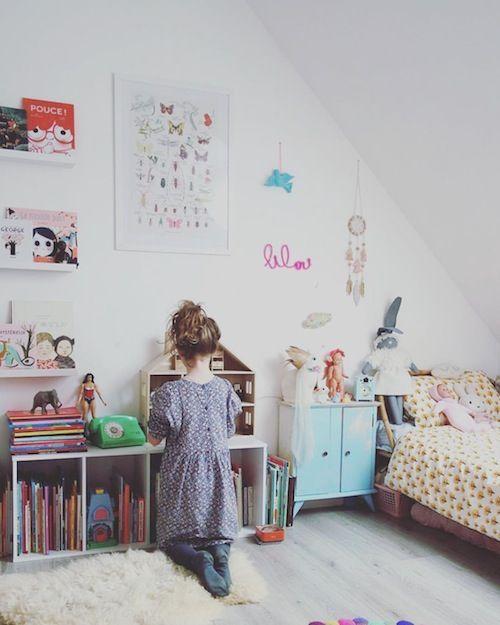 chambre j'aurais pu m'appeler marcel, blog nanelle, kids room, vintage, little girl