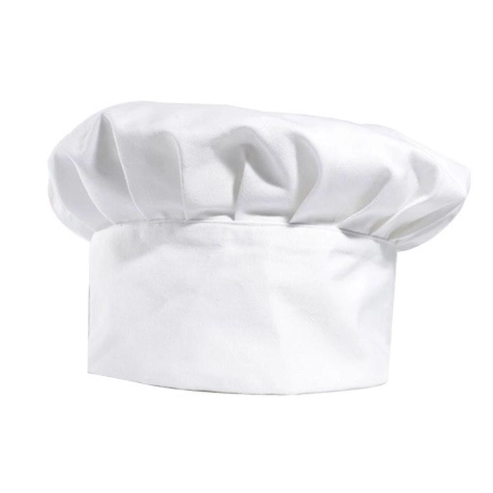 Premium Chef Hat Cap Chefwear Fitted Hats for Kitchen Cooking Baking - White