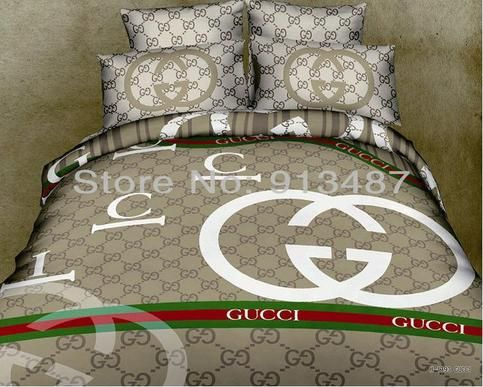 Free Shipping Gucci Bedding Set 100 Cotton 4 Pieces Queen Size Gucci Bedding King Size Bedding Sets Bed Linens Luxury