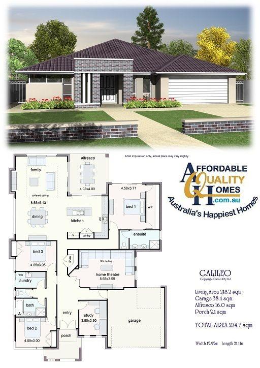 Affordable Quality Homes Calileo 274sqm Projetos De Casas Terreas Casas Tradicionais Arquitetura Casas