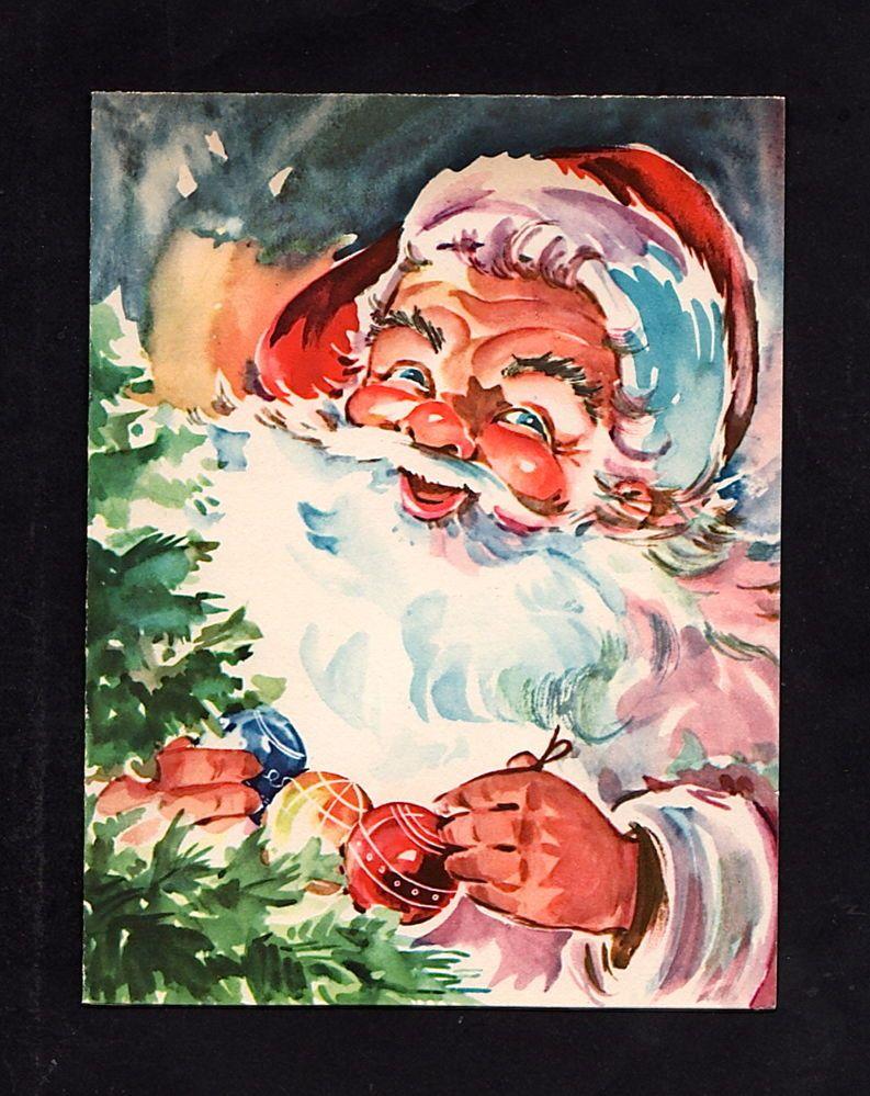 Santa Christmas Card Er 52 Santa Christmas Cards Vintage Christmas Cards Vintage Christmas Images