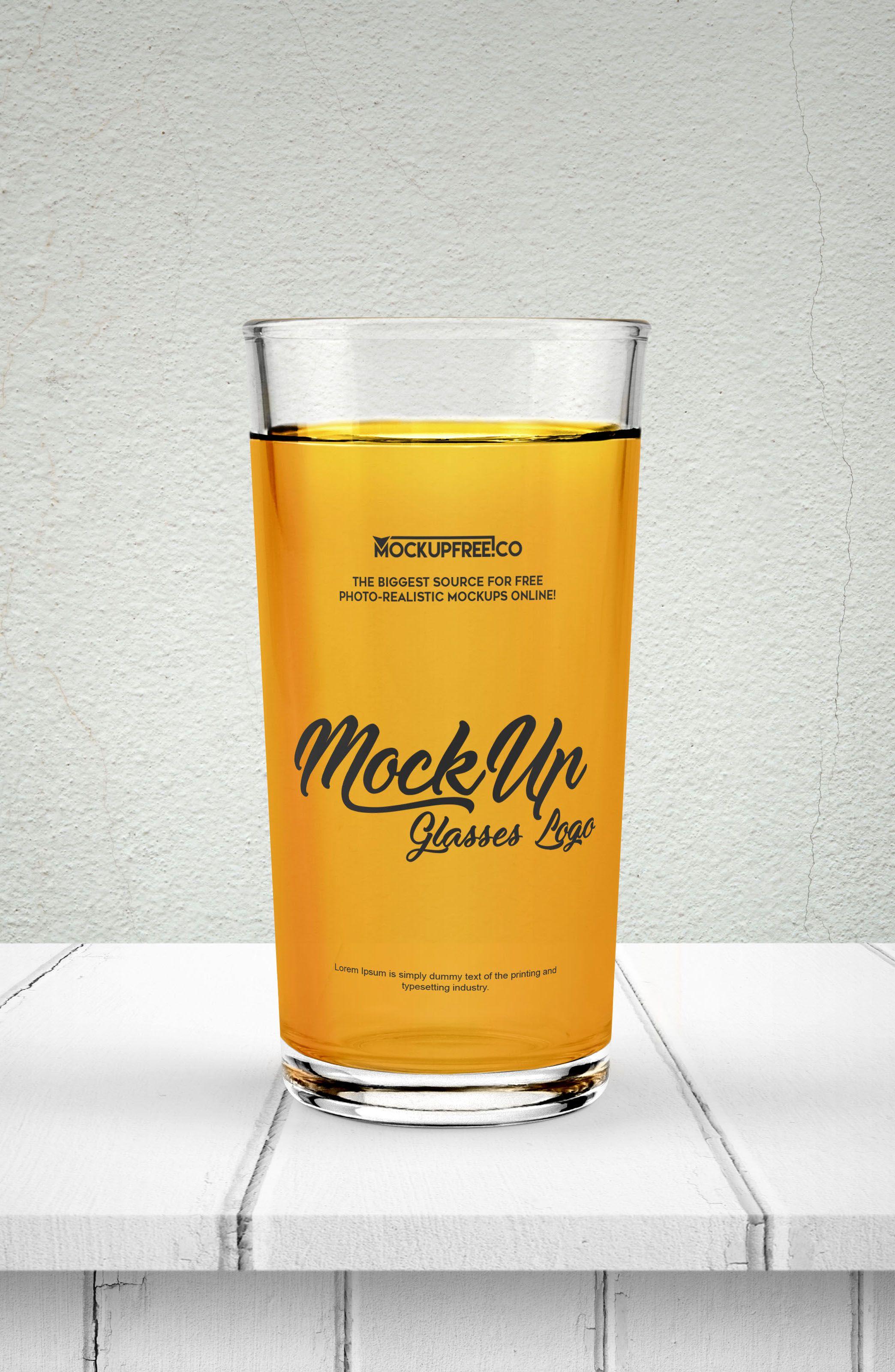 Free Juice Glass Psd Mockup Mockup Psd Mockup Free Psd Mockup