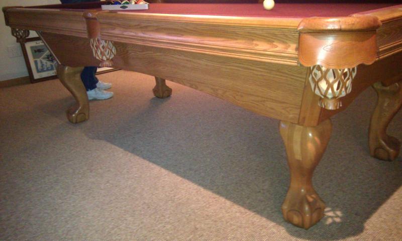 brunswick oak pool table | mr slates certified used pool tables