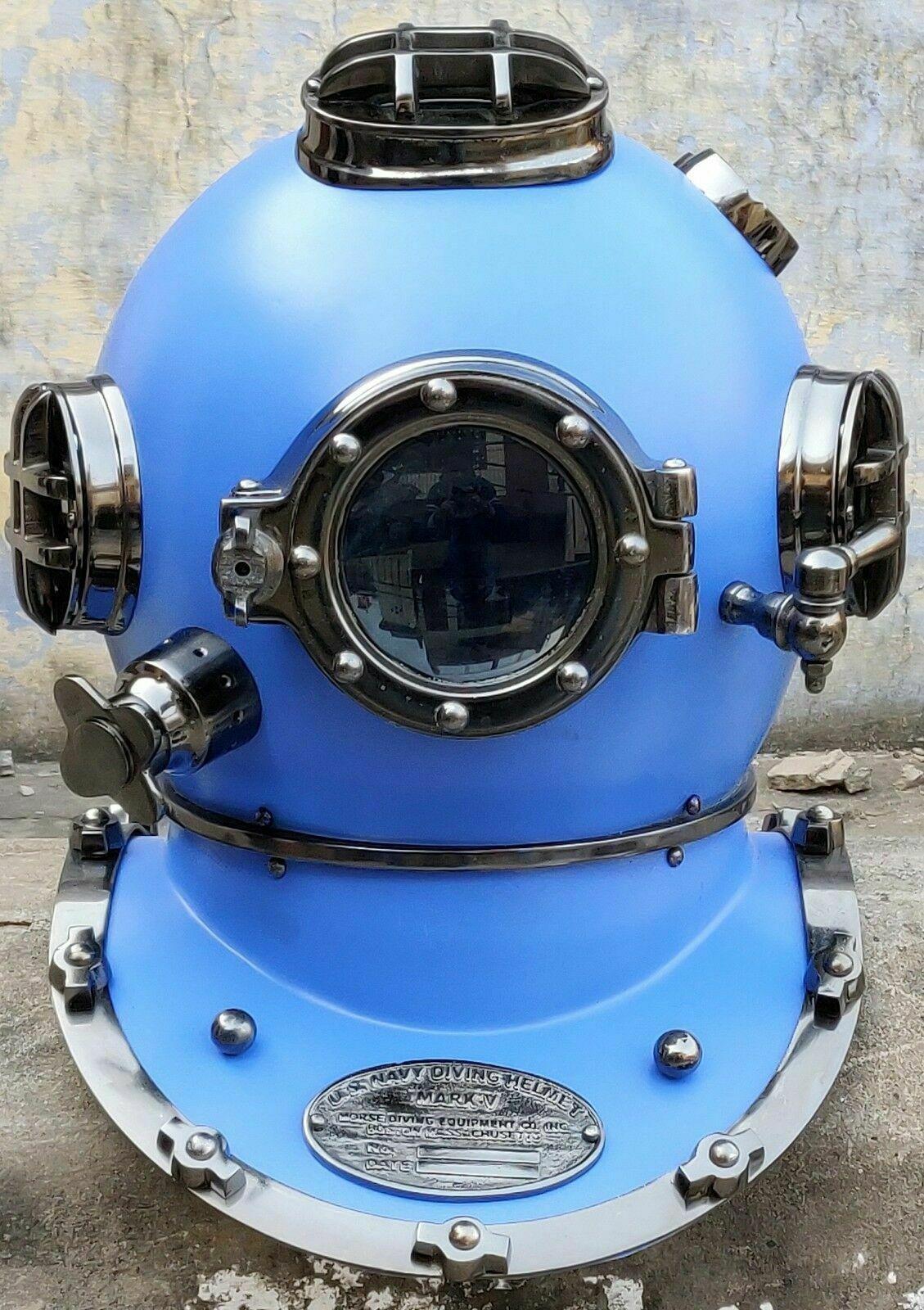 Brass Divers Helmet Maritime Diving Mark V Decorative