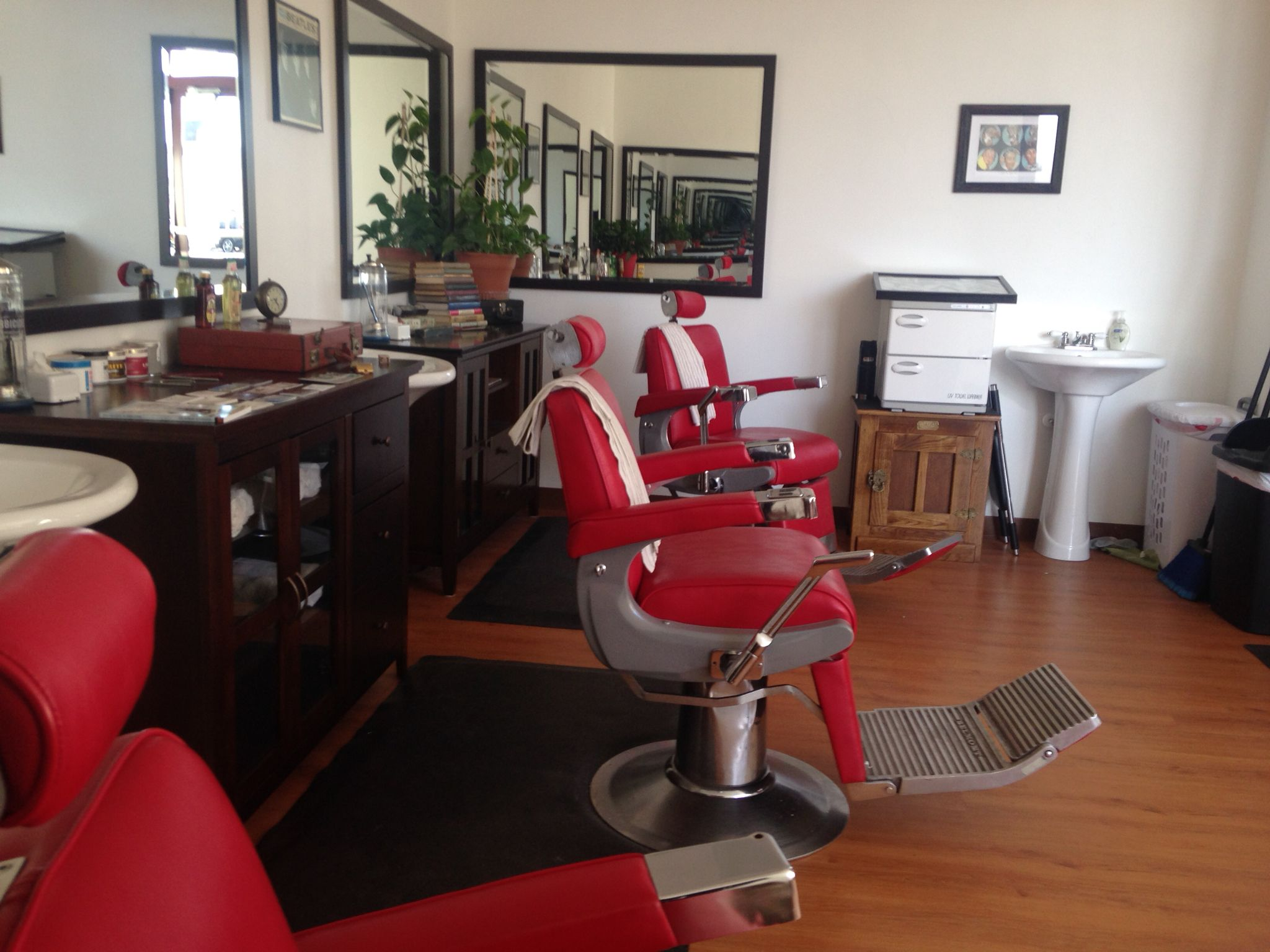 Belmont barber chairs located in Dave s Barber Shop in daybreak