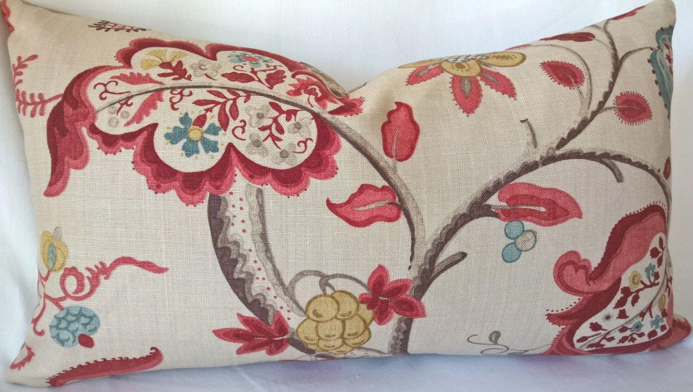 Etsy Throw Pillows Arthur Sanderson Sons Roslyn 100 Linen Berry Slate Custom