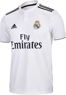 3003ac3e67 Adidas Men s 2018 19 Real Madrid Home Stadium Jersey (White Black) DH3372  (eBay Link)