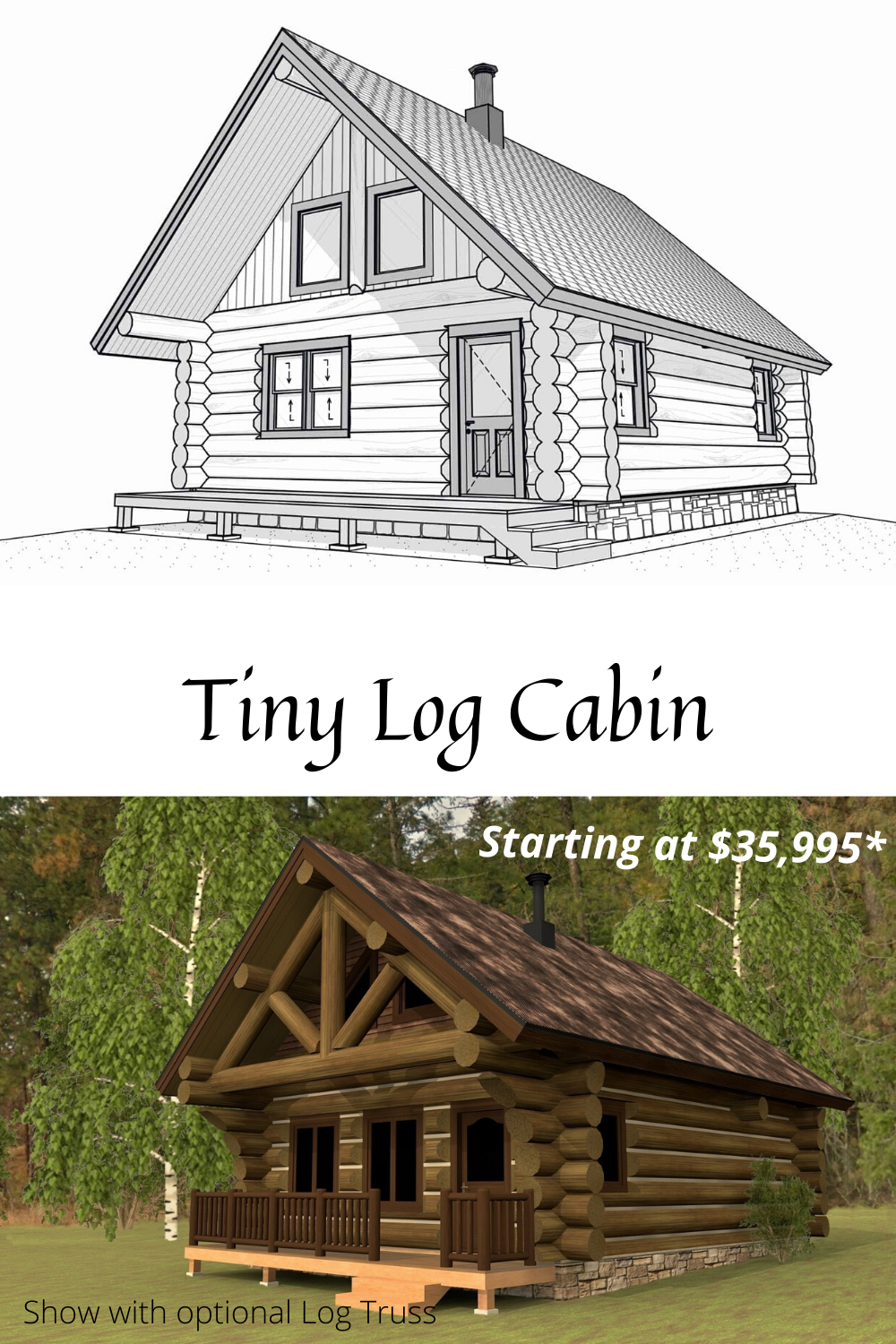 Build Your Get A Way Log Cabin Handcrafted Log Kit In 2020 Cabin Floor Plans Cabin Floor Cabins In The Woods