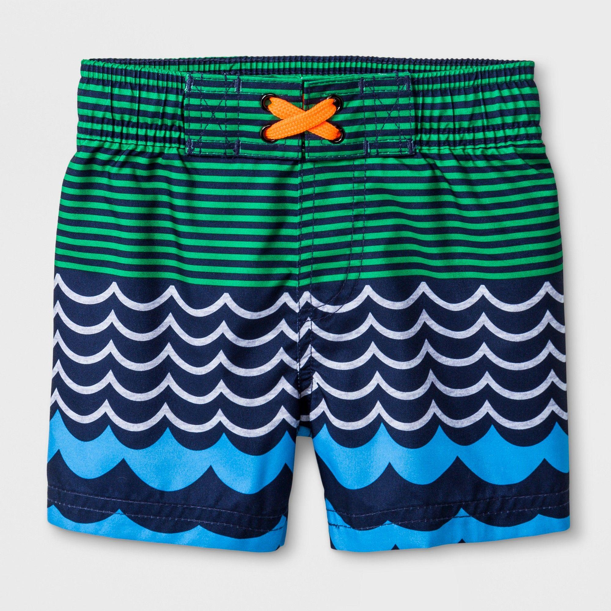 Baby Boys' Waves Swim Trunks Cat & Jack Navy 12M, Boy's