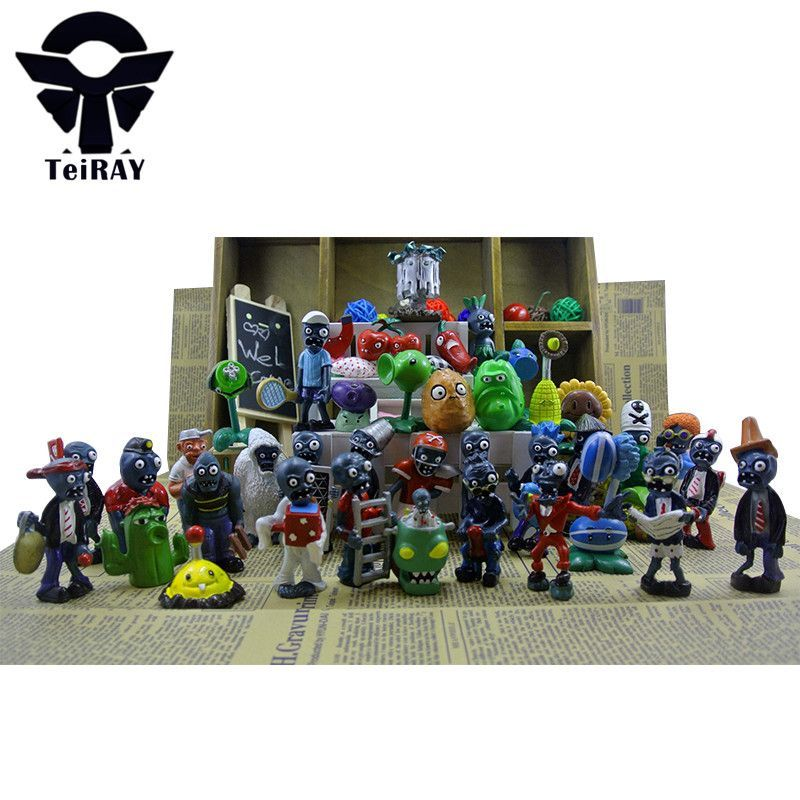 40pcs Set Plants Vs Zombies Toys Pvc Action Figure 3 8cm Kids Toys For Boys Action Figures Toys Plants Vs Zombies