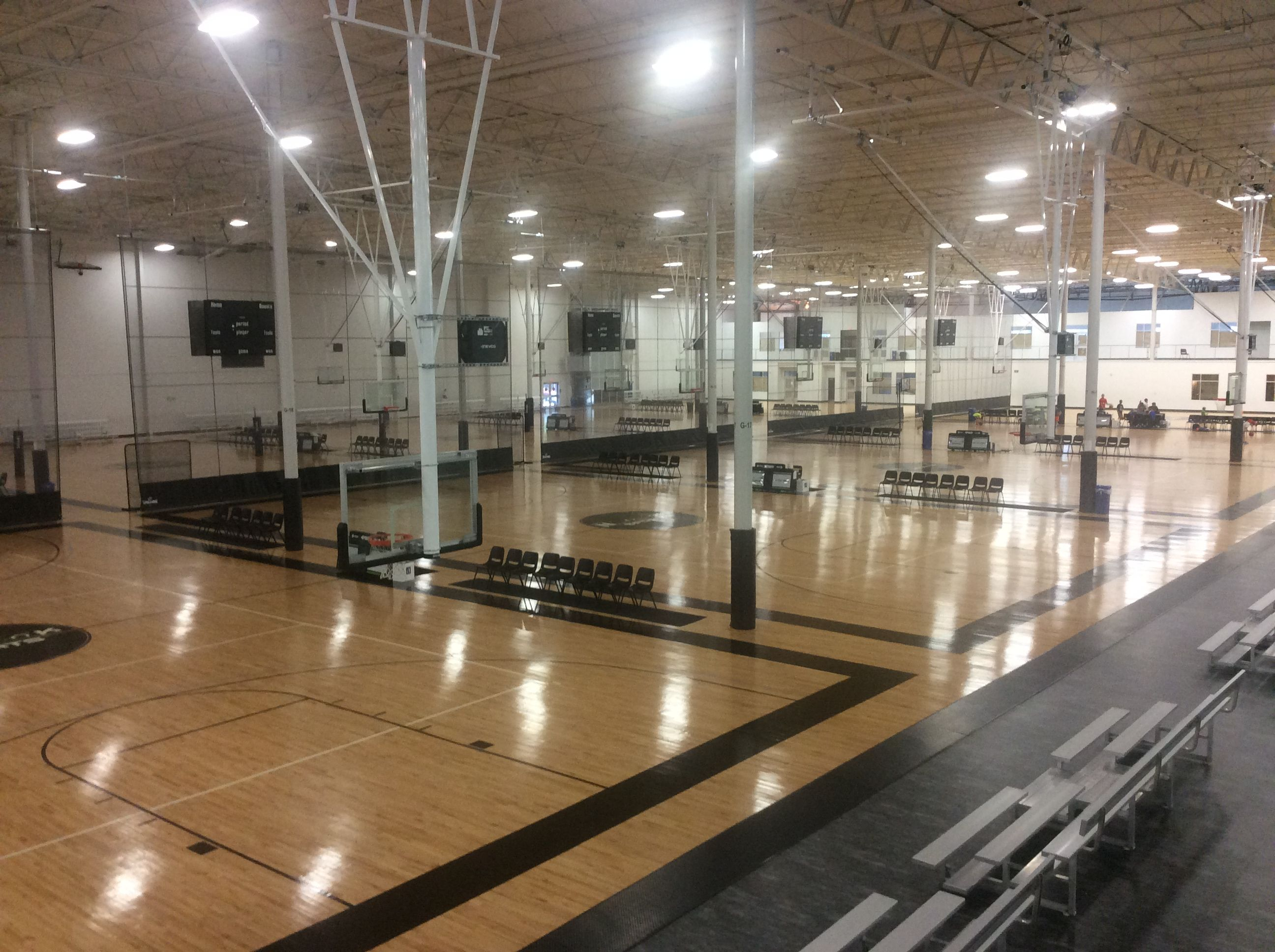 The Basketball Courts Also Used For Volleyball Sometimes Spooky Nook Sports Spooky Nook Basketball Court