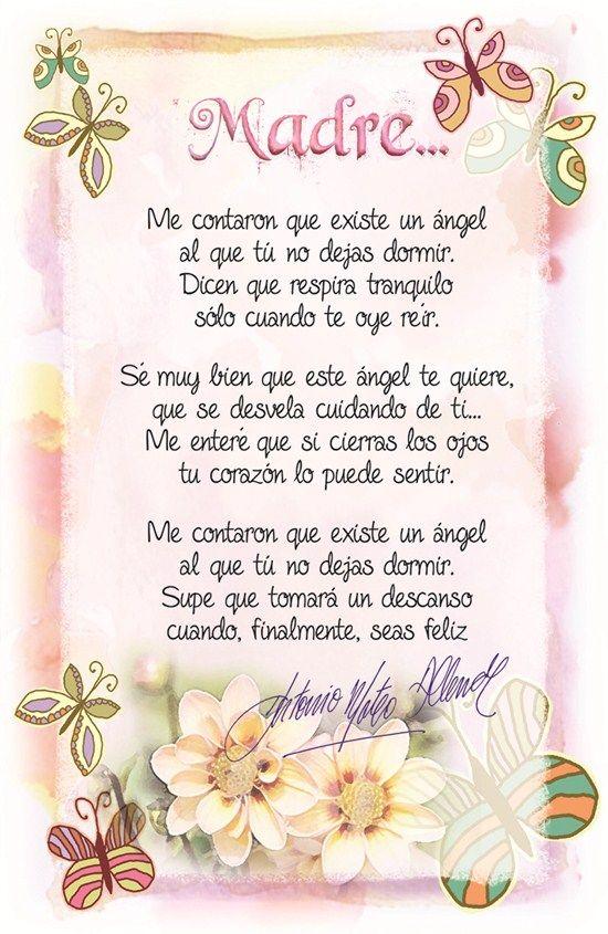 poema-a-la-madre.jpg (550×845)   Poema para la madre, Feliz dia ...