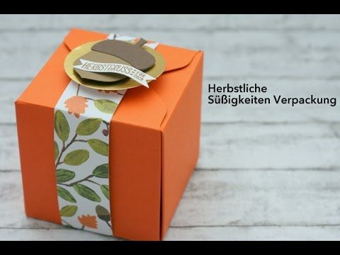 herbstliche s igkeiten verpackung mit stampin 39 up videos von irenes bastelzimmer. Black Bedroom Furniture Sets. Home Design Ideas