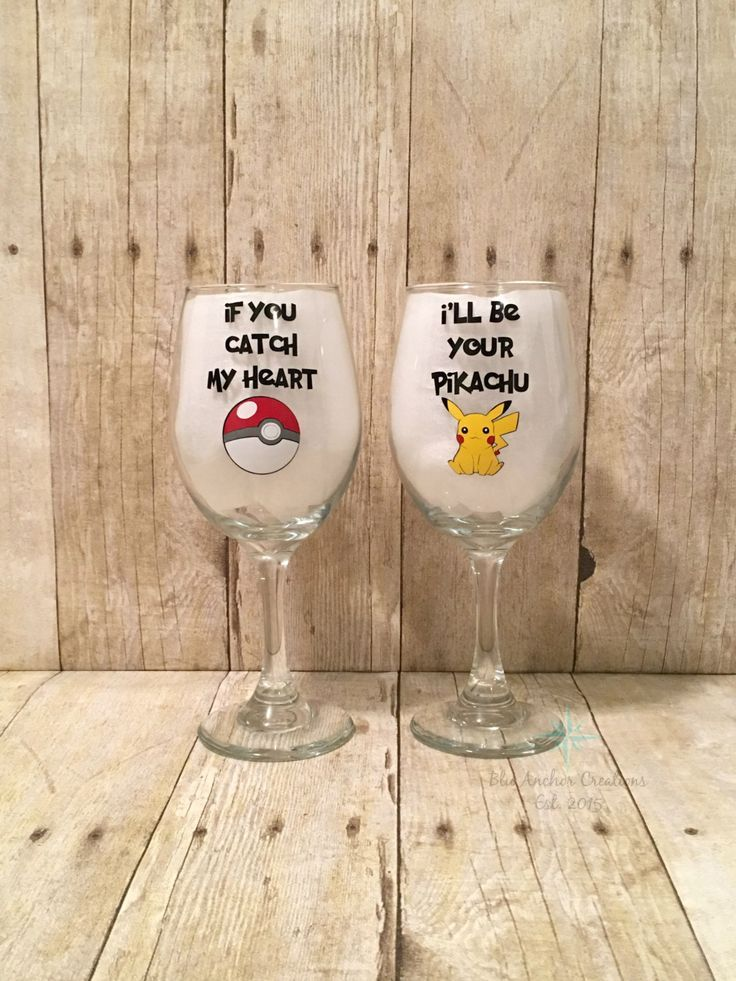 Pokemon Wine Gl His And Hers Anniversary Gift