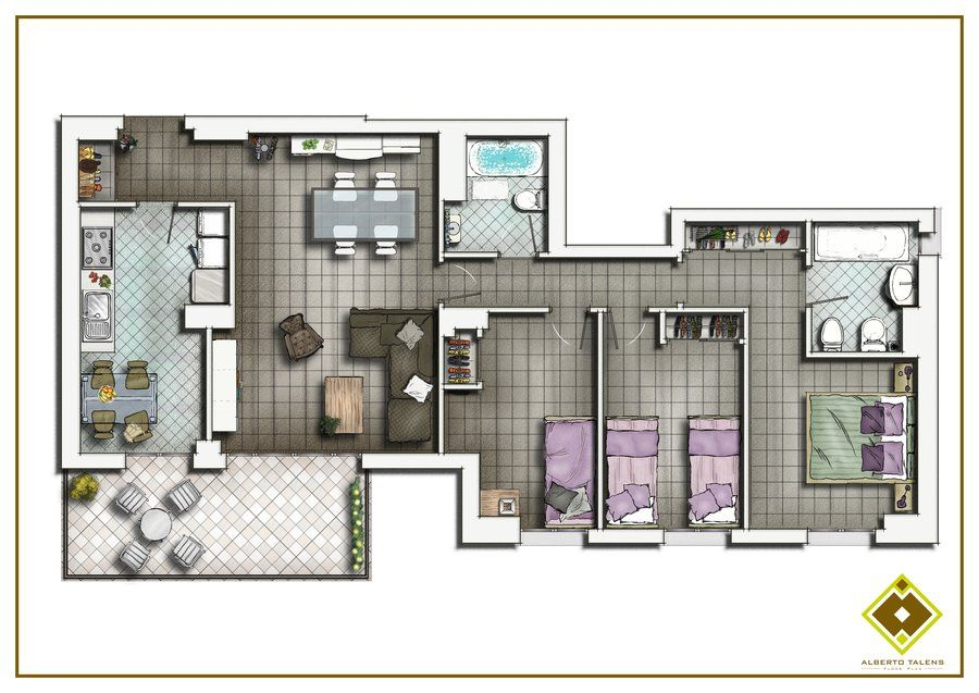 Floor Plan 2d Send Me Your Drawings And Coloring I