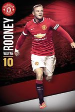 Maxi Poster 61cm x 91.5cm new /& sealed Manchester United Rooney 2012-2013