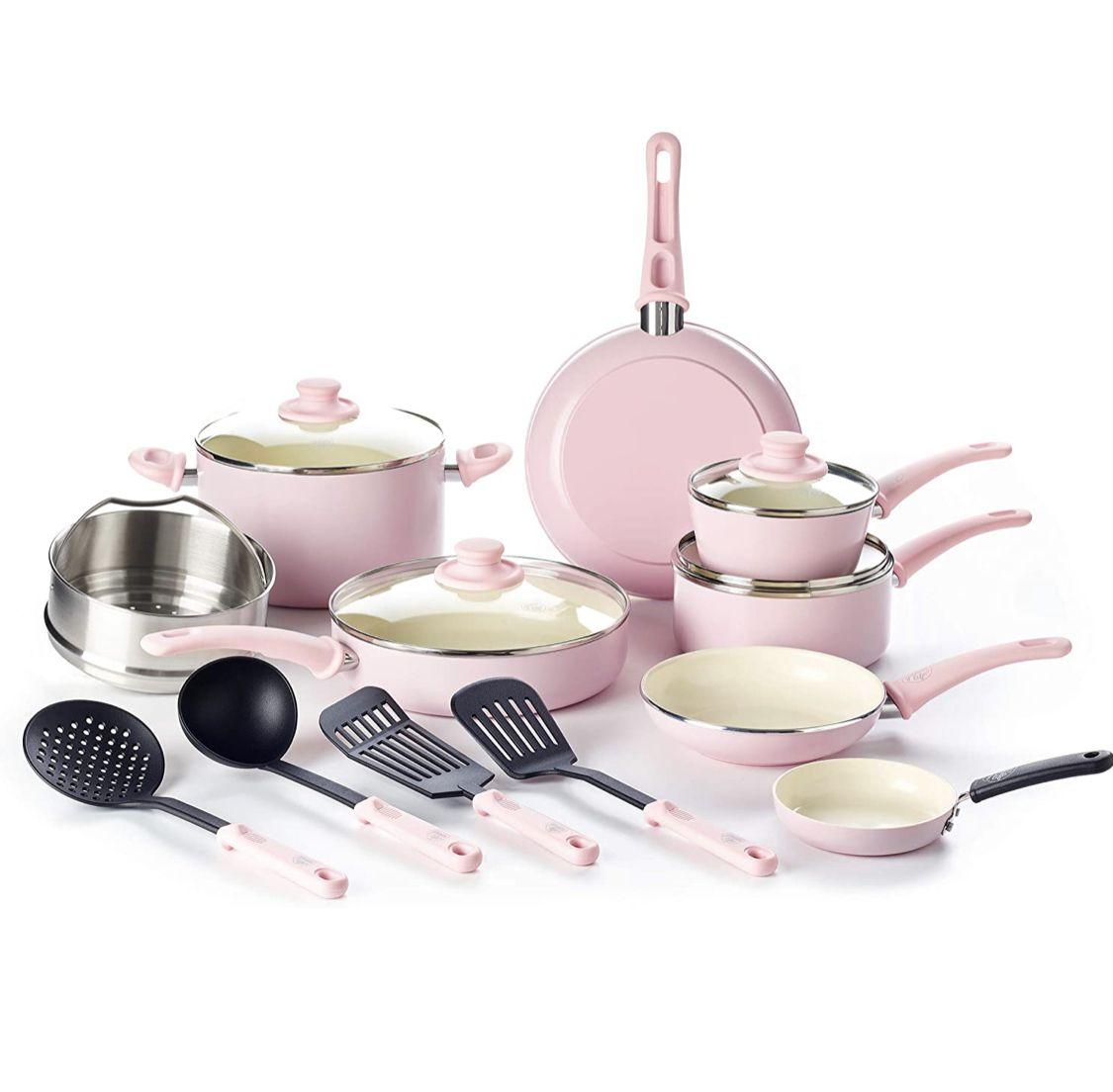 Favorite pink pot set all for 85 pink kitchen decor
