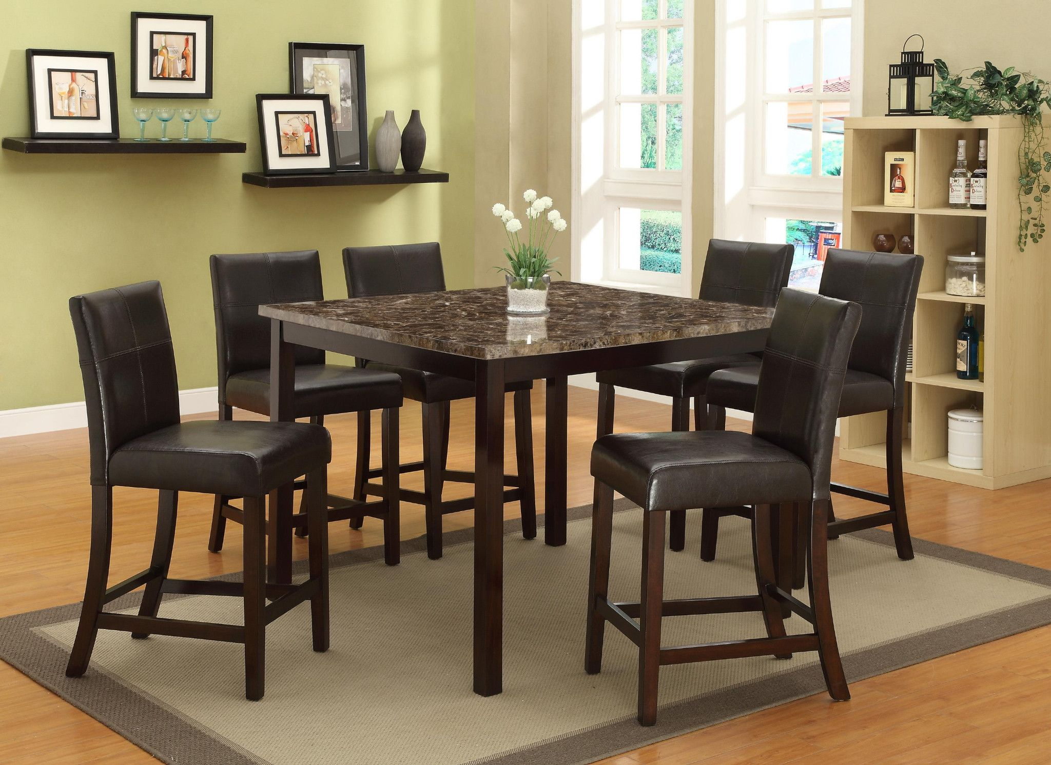 Pompei 5 Piece Counter Height Table And 4 Chairs $49900 Table 48 Stunning 36 Dining Room Table Decorating Design