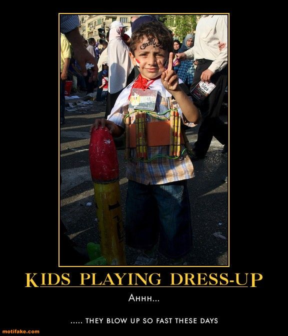 demotivational poster KIDS PLAYING DRESS-UP...