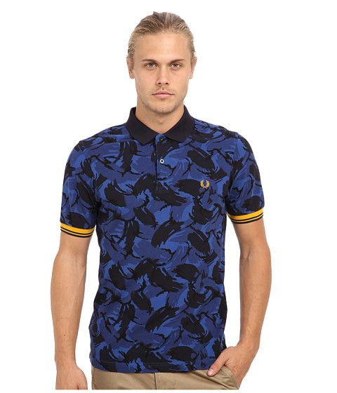 Fred Perry Camouflage Tipped Polo Regal - Zappos.com Free Shipping BOTH Ways