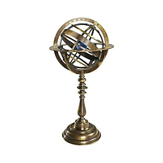 Bring the entire galaxy into your home with the Bronze Armillary Dial. With an antique inspired feel, the dial was designed with the earth positioned in the centre, surrounded by bronze hoops symbolising the course of the sun and the planets known in earlier times. The Armillary Dial will make a statement feature in your living space.