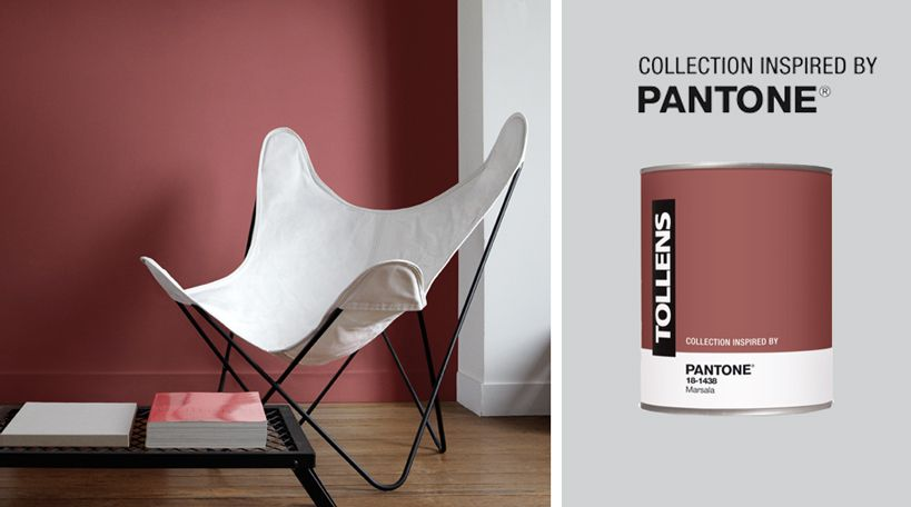 Peinture Marsala Pantone Tollens House Marsala Pantone Color