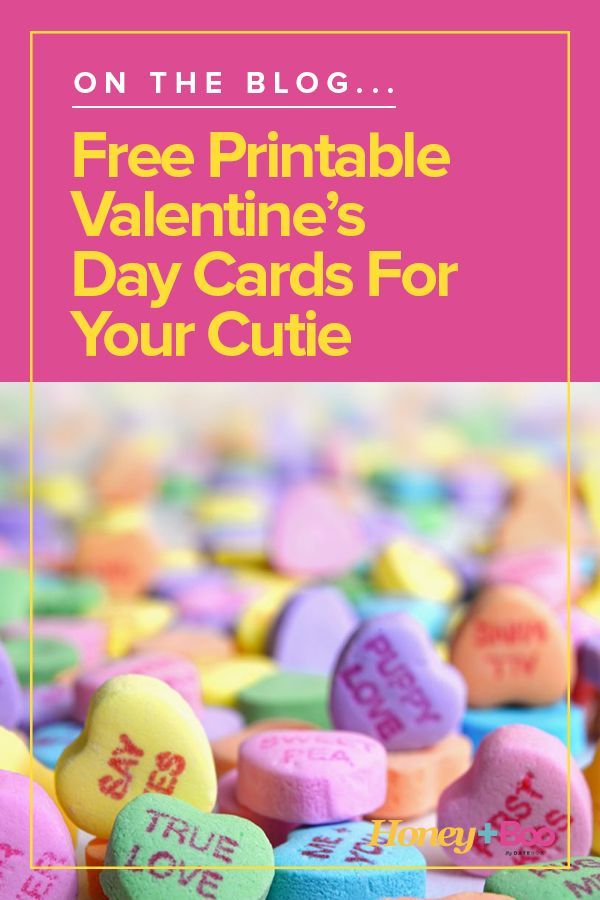 Free Printable Valentine's Day Cards for Your Cutie ...