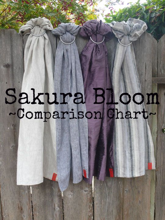 Sakura Bloom Ring Sling Comparison Chart Baby Carrier Tips And