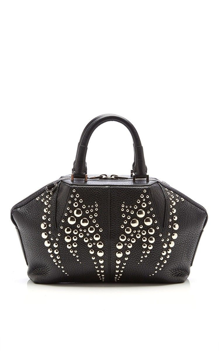 Emile Doctor Soft Pebbled Studded Leather Handbag By Alexander For Preorder On Moda Operandi