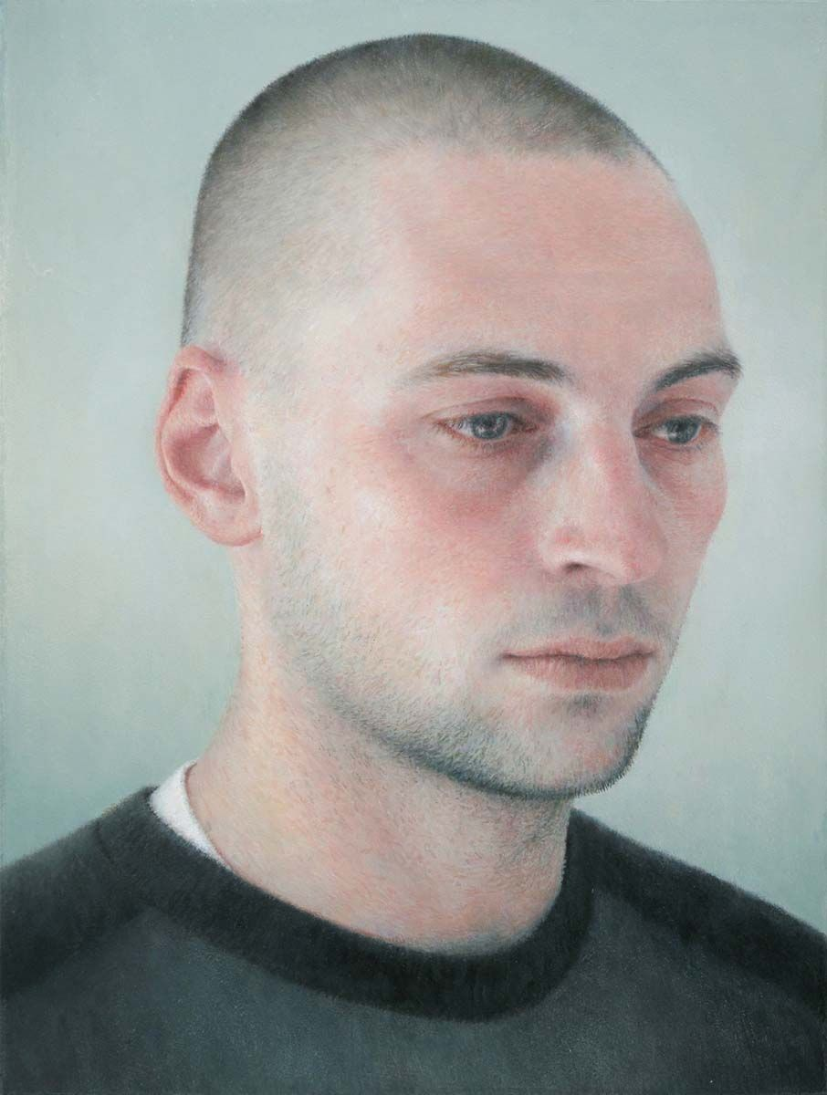 Adam (SOLD), 2010, oil on wood, 8 3/8 x 6 3/8 inches