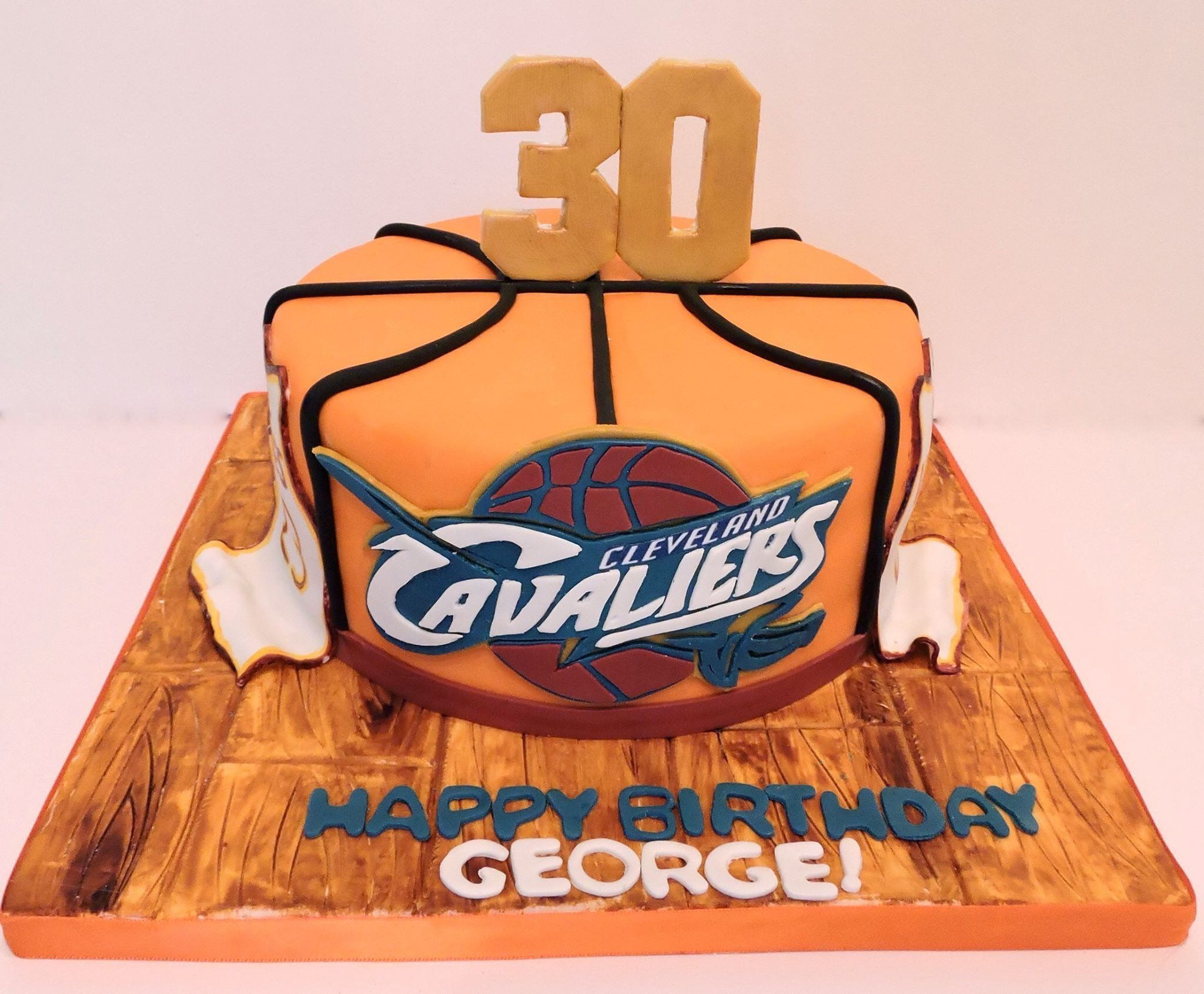 Cleveland Cavaliers Basketball Cake For Mans 30Th Birthday | 6th ...
