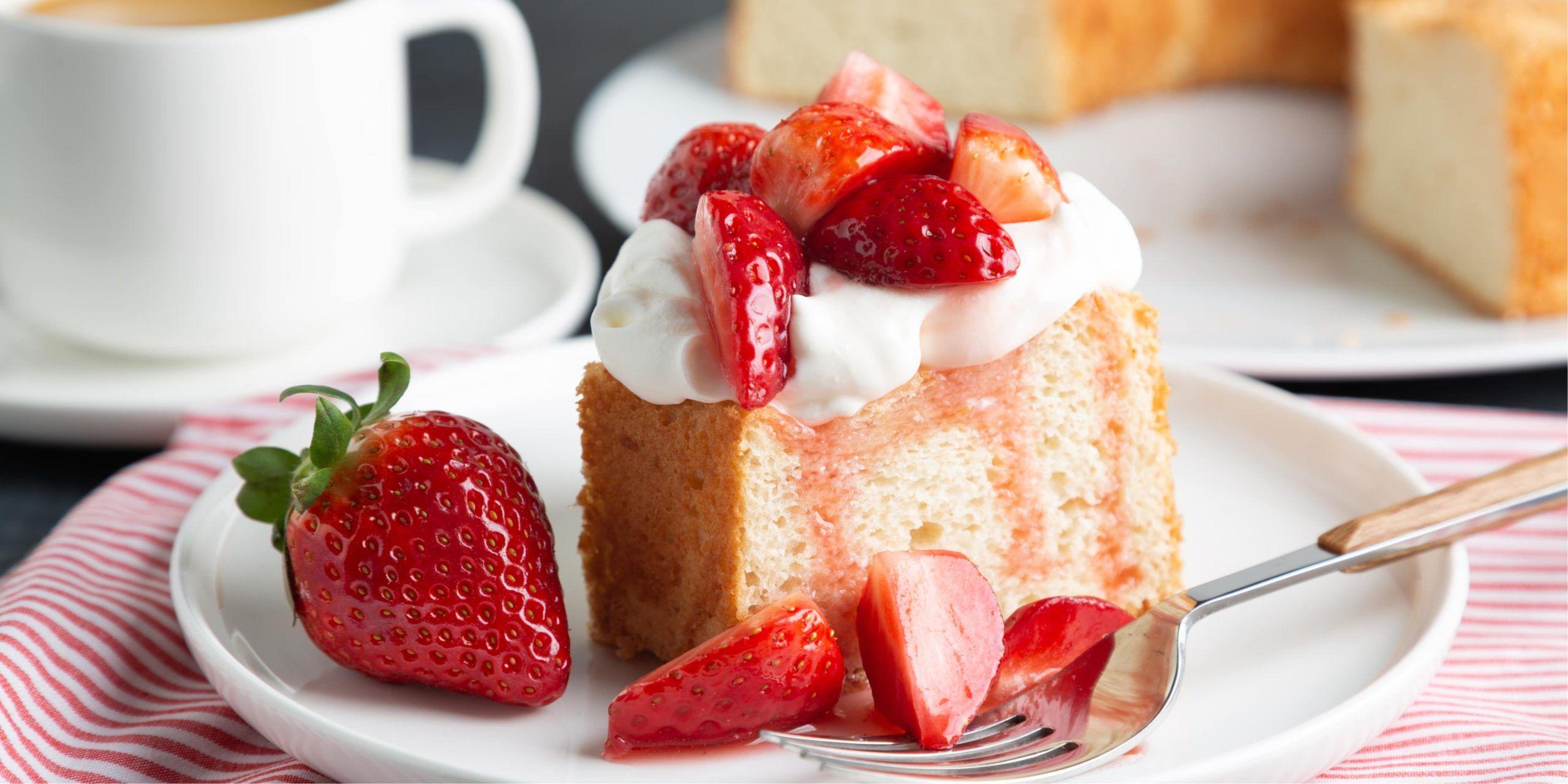Keto strawberry shortcake in 2020 angel food cake