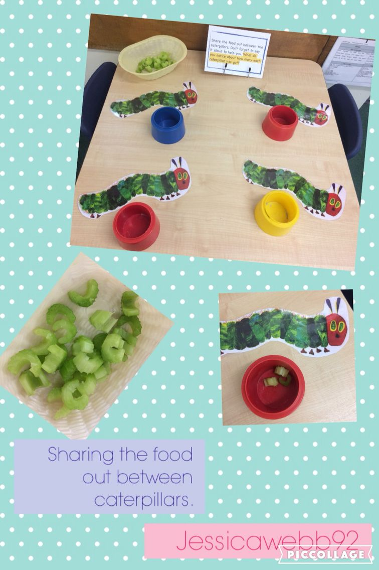 Sharing out the food between the caterpillars. EYFS Be a bigger ...