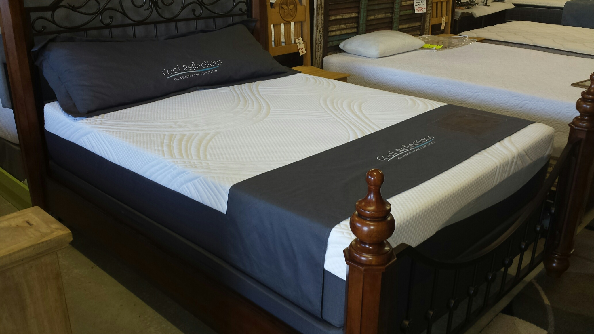 Bed frames for a gel mattress, as well as other types of