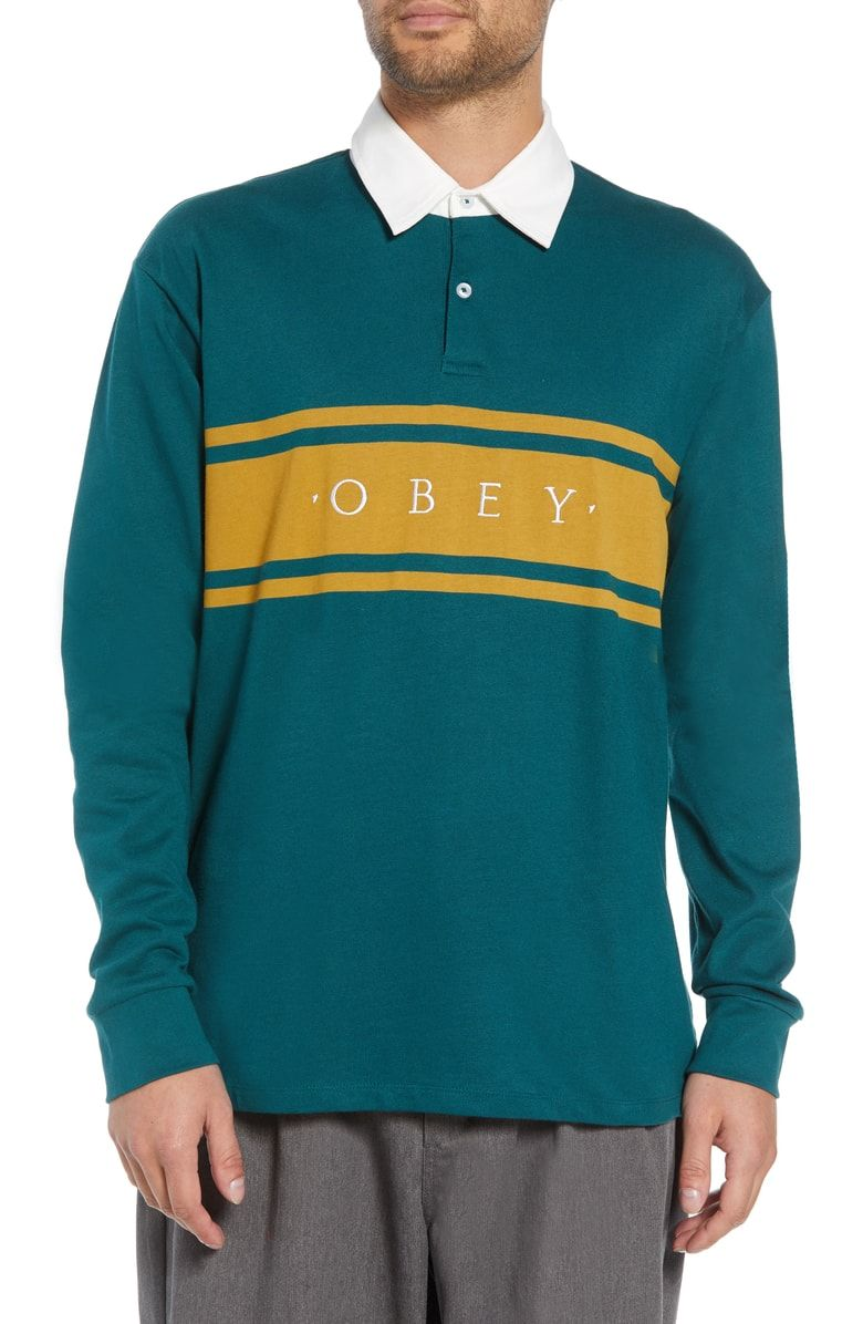 711e806c OBEY HERO LONG SLEEVE POLO. #obey #cloth | Obey | Long sleeve polo ...