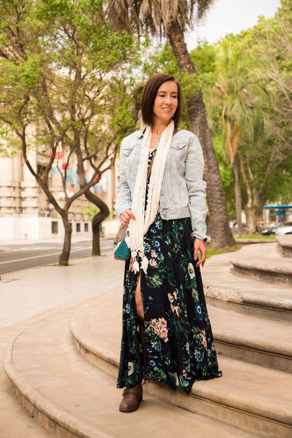 Styling A Floral Maxi Dress For Fall Maxi Dress Outfit Fall Maxi Dresses Fall Floral Maxi Dress