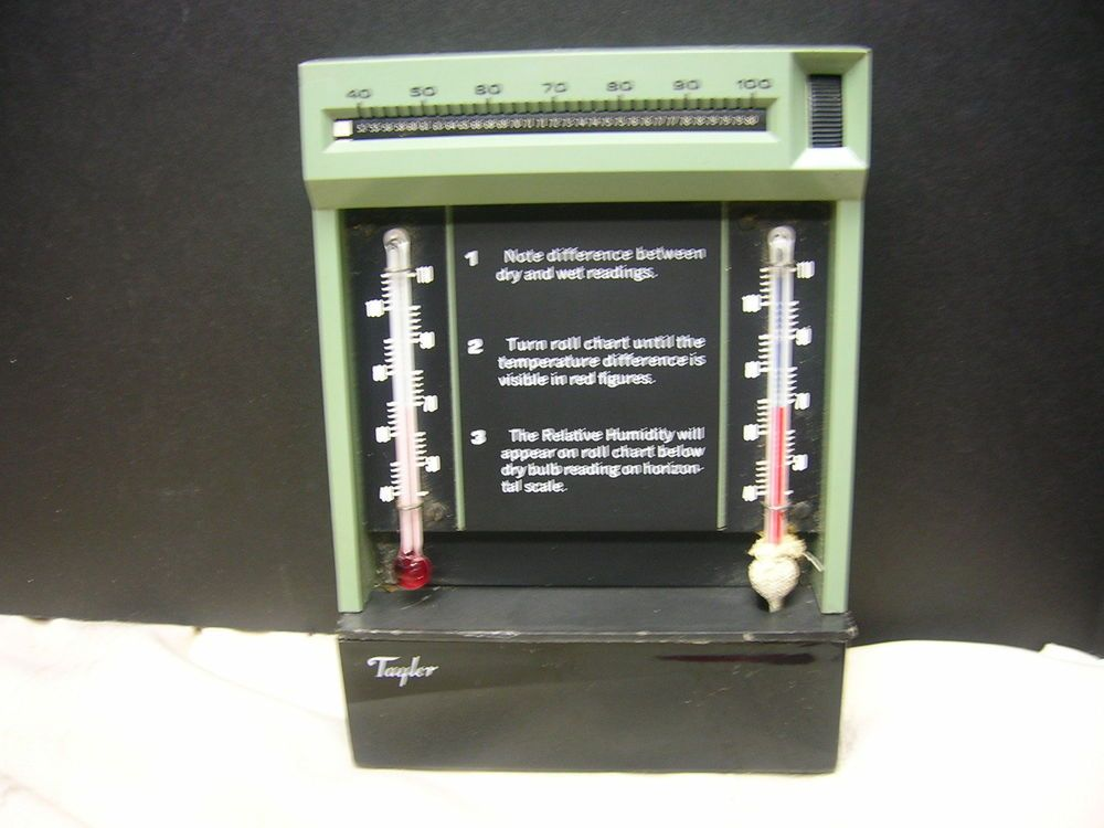 Vintage Taylor Hygrometer Relative Humidity Thermometer