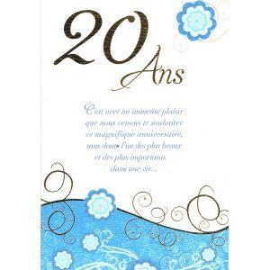 Carte Anniversaire 20 Ans Carte Anniversaire 20 Ans