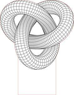 Acrile Led Torus Knot 3d Illusion Lamp Vector File Arte De Geometria Arte De La Ilusion Optica Tatuaje Mandala Geometrico