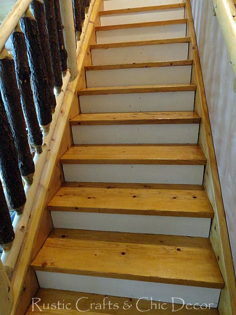 Best How To Paint And Stain Stairs Rustic Chic Decor Rustic 400 x 300