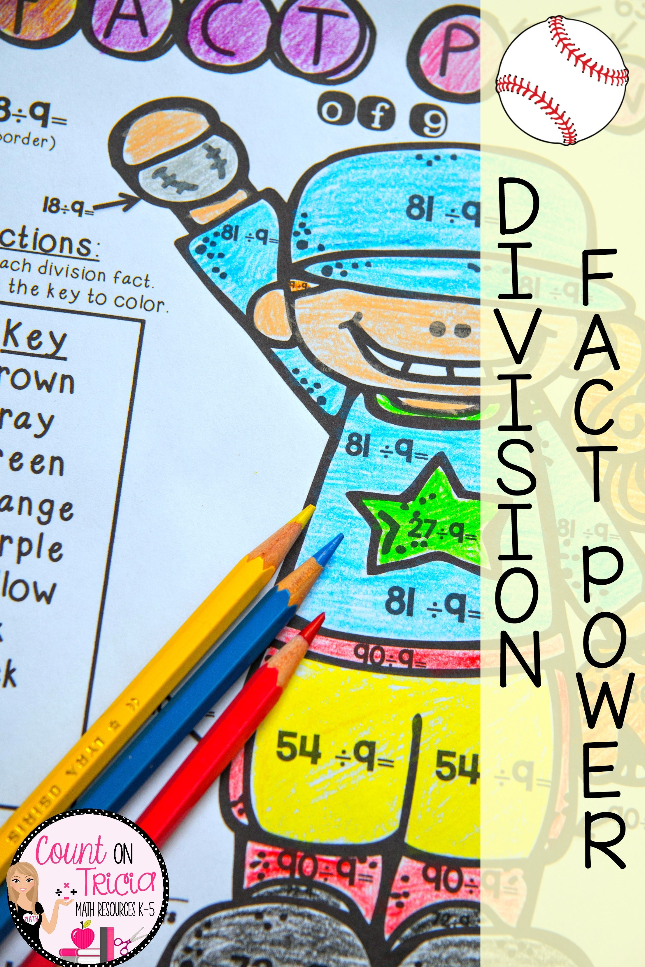 Increase Division Fact Fluency With These Engaging And Fun Color By Number Division Practice