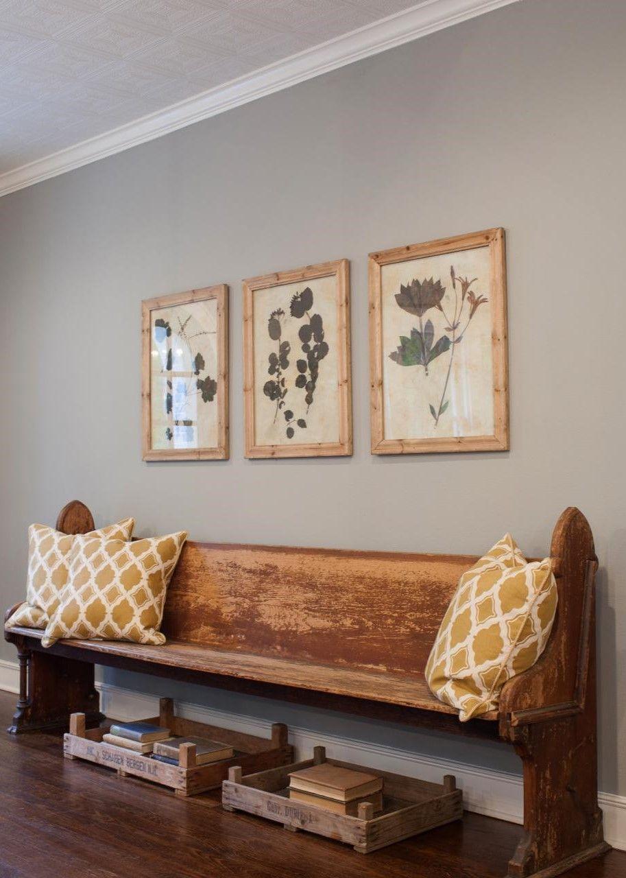 church foyer furniture. Wood Church Pew Bench Foyer HGTV Fixer Upper Brick Cottage For Baylor Grads. Furniture T
