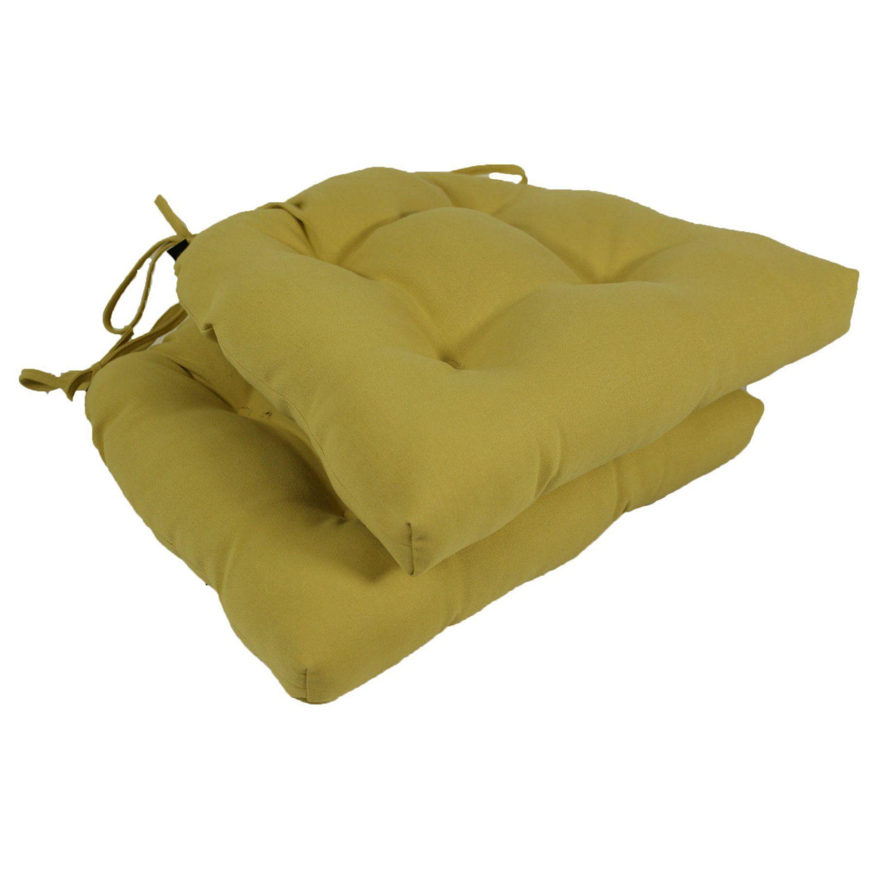 Lava WHS Honey Sunbrella Outdoor U Chair Cushions with Ties - Set of 2 - LAVA388-0018