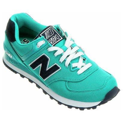 new balance verde e azul