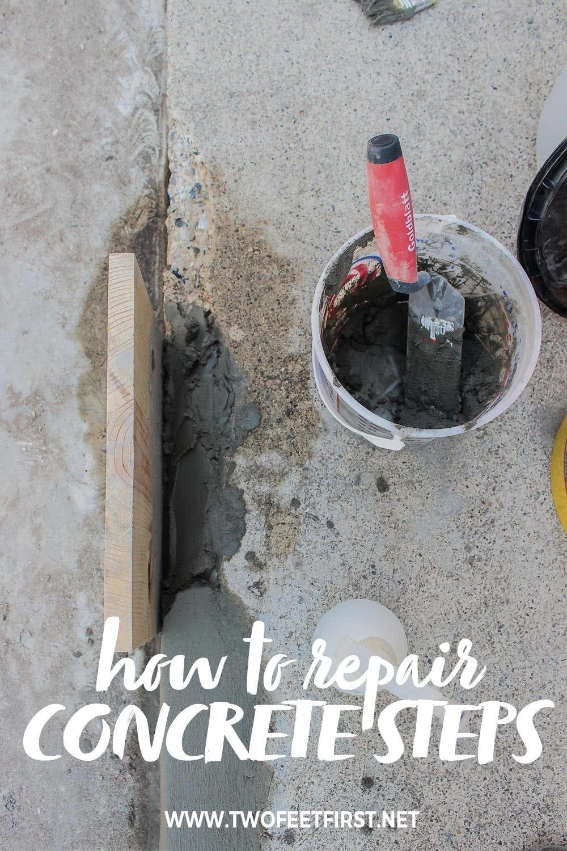 How To Fix Chipped Concrete Steps Concrete Steps Diy Curb Appeal