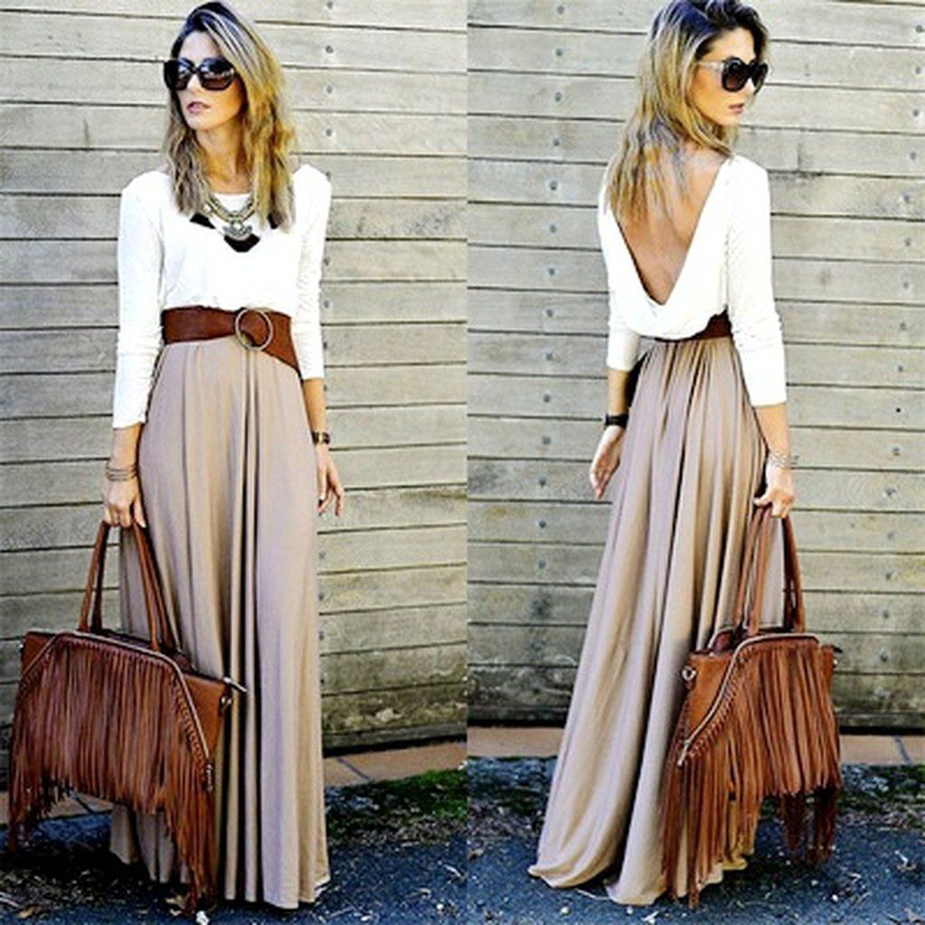 4 Color Women's Fashion Solid Color Skirt High Waist Elegant Style Pleated Dresses Floor-length Stretch Casual Maxi Skirt Sexy L