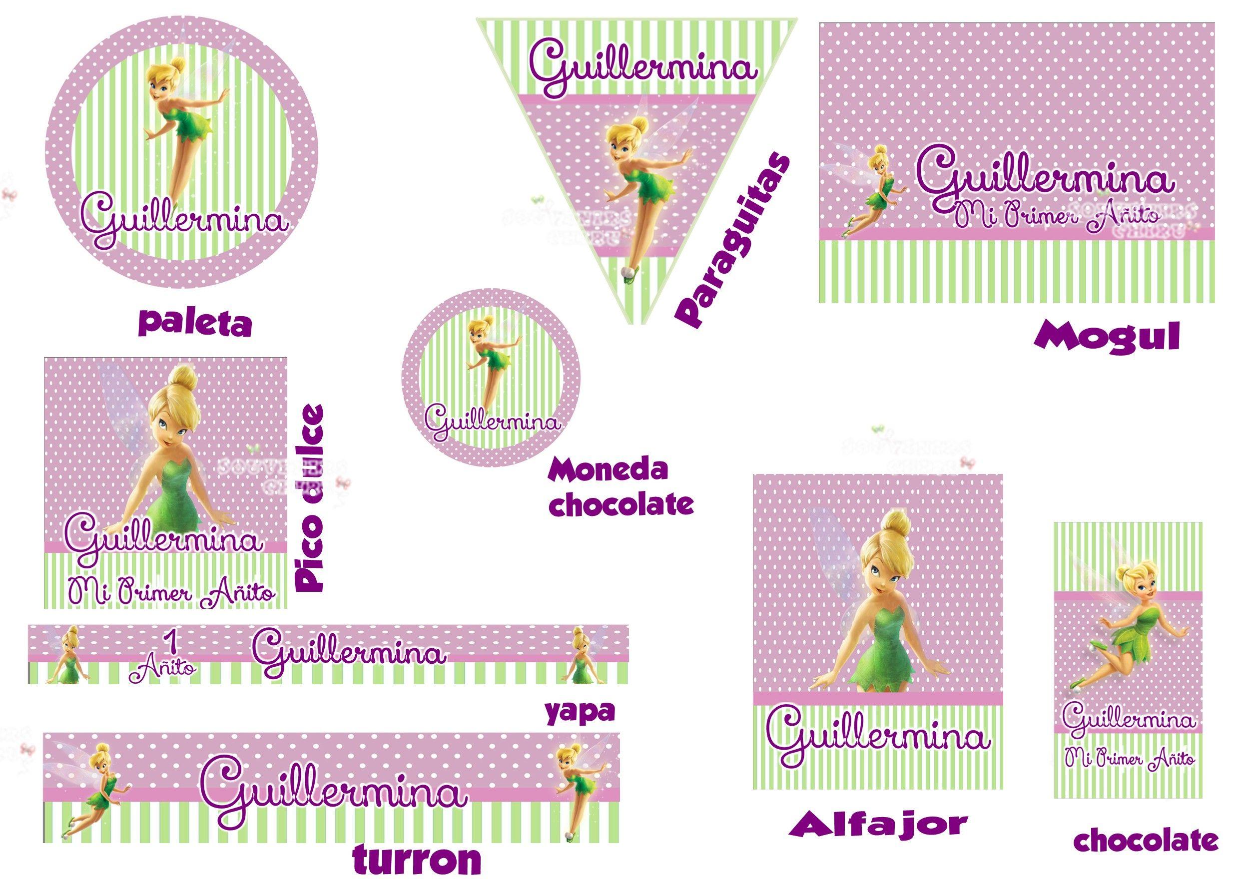 Etiquetas Personalizadas de Tinkerbell. Candy Bar Campanita ...